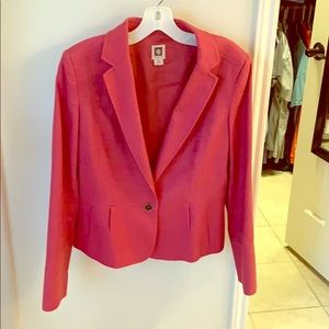 Pink Anne Klein blazer